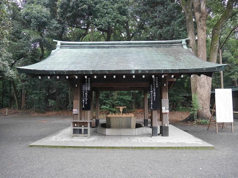 Meiji Jingu temppelin edustalla...