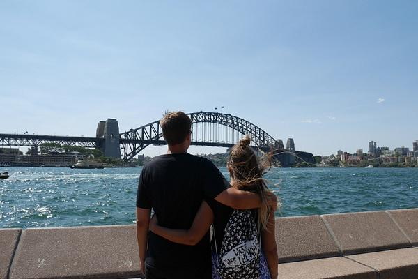 Sydney Harbour Bridge ja me by hannajamikko