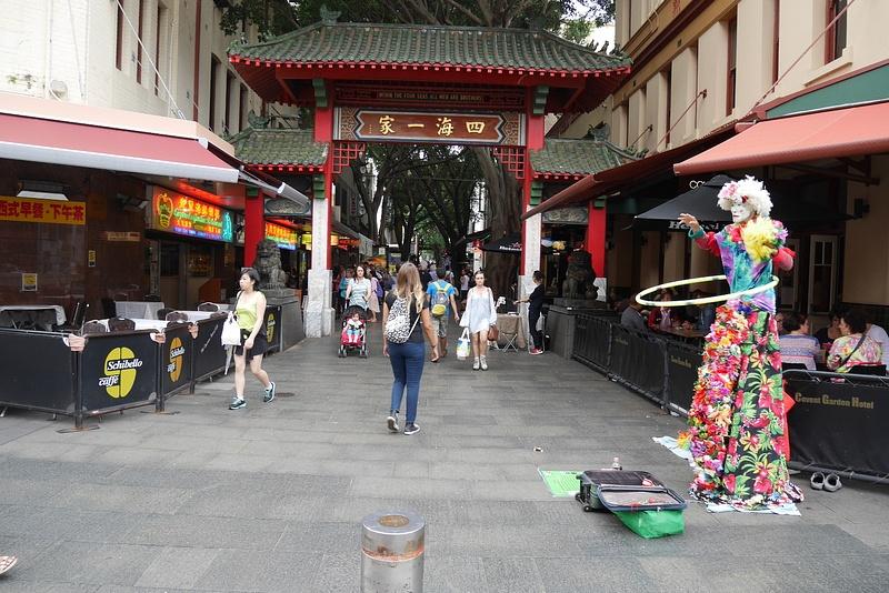 China Townin ravintolakatu