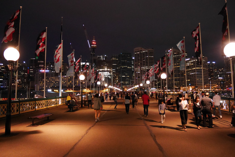 Kävelysilta Sydneyn CBDhen