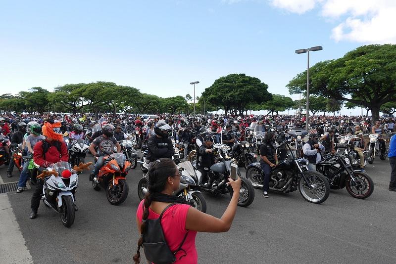 Tapahtumaan osallistui tuhansia motoristeja ja jylinää riitti