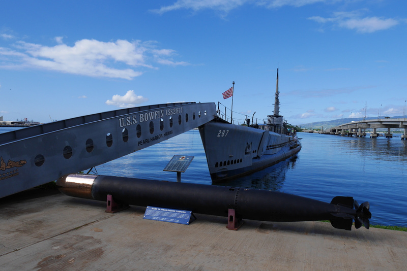 Käytiin päiväretki Pearl Harborissa. Kuvassa 2. maailmansodan sukellusvene