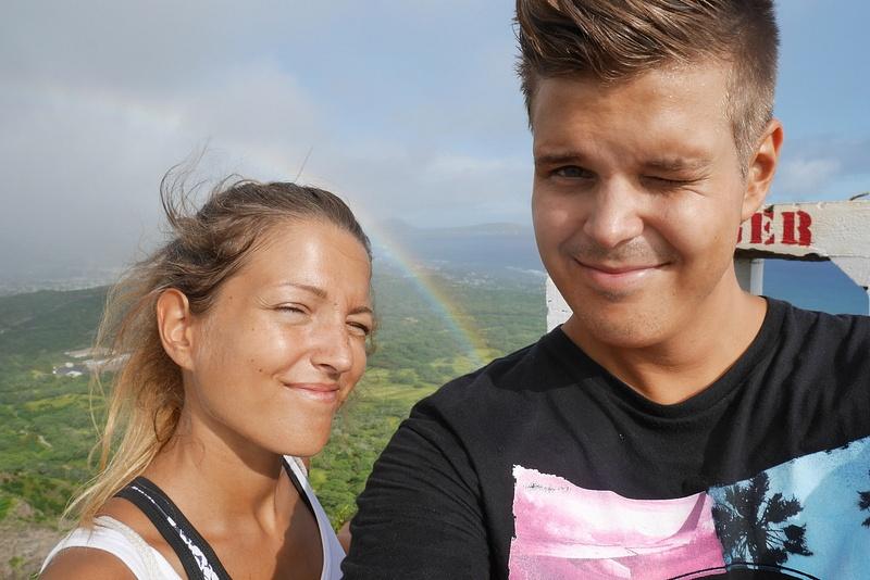 Sateenkaari. Hawajia kutsutaan Rainbow Stateksi, sillä täällä näkee koko ajan sateenkaaria