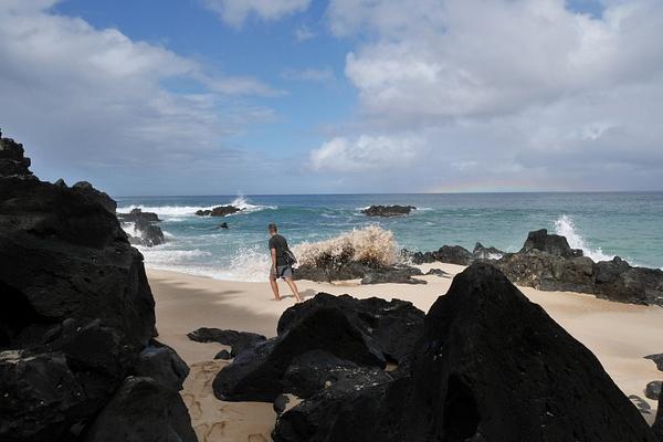 Waimea beach North Shoressa by hannajamikko
