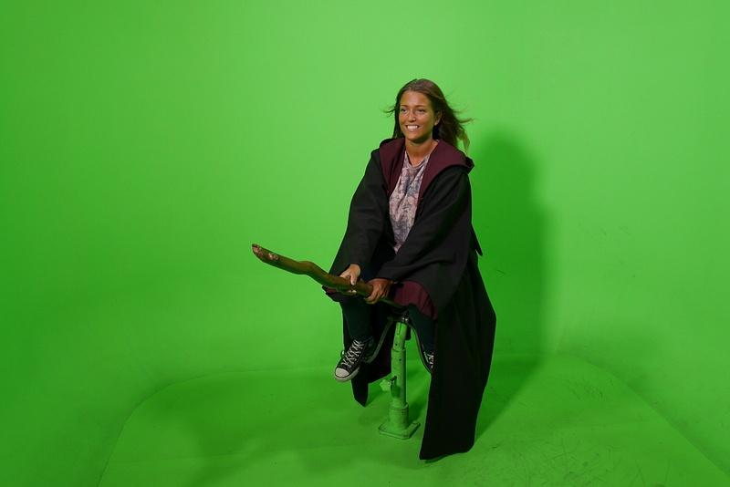 Päästiin tekemään omaa elokuvakohtausta ohjaajan kanssa. Kuvassa Hanna Potter