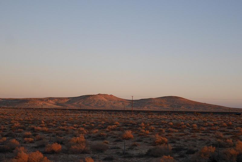 Matkalla Las Vegasiin. Auringon viimeisiä säteitä.