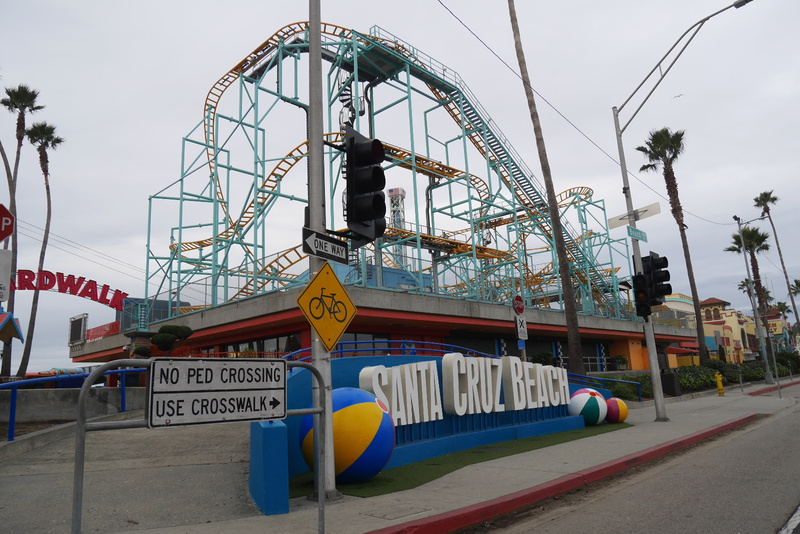 Santa Cruzin huvipuisto tyhjänä aamuvarhain