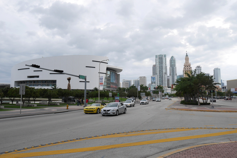 American Airlines Arena ja Downtown