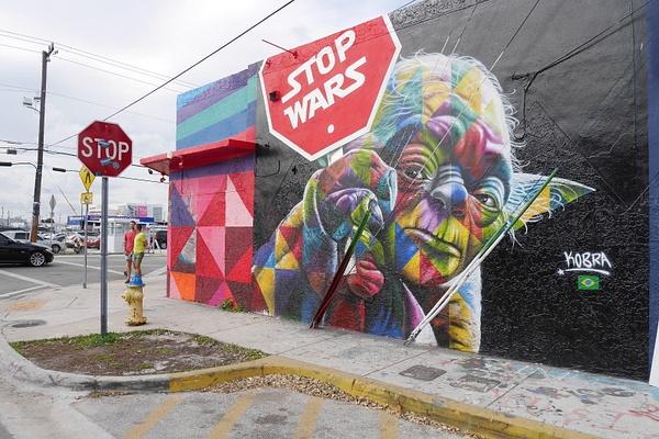 Wynwood Walls on Miamin katutaidealue. Kuvassa Yoda. by hannajamikko