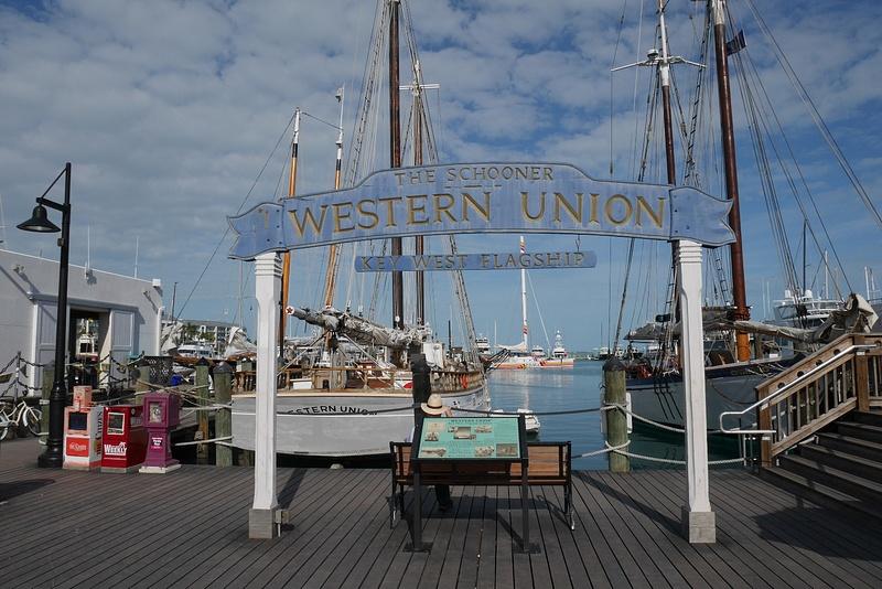 Key Westin historiallista satamaa. Kuvassa The Schooner.
