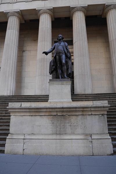 Tässä rakennuksessa nimitettiin USAn ensimmäinen presidentti George Washington by hannajamikko