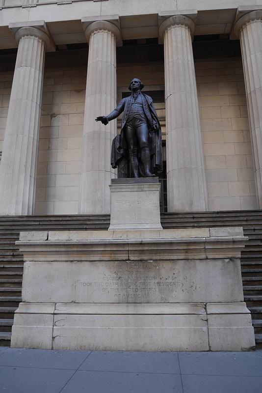 Tässä rakennuksessa nimitettiin USAn ensimmäinen presidentti George Washington