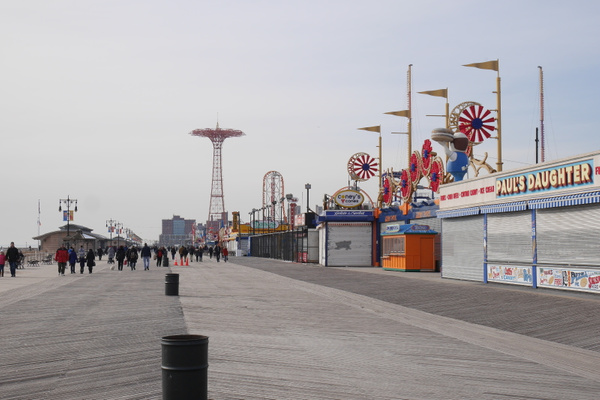 Coney Island Boardwalk by hannajamikko
