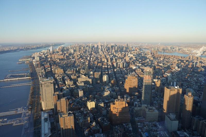 New York korkealta, vasemmalla vähän New Jerseytä