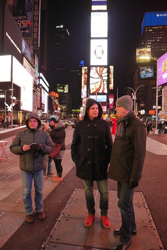 Times Squarella ihmettelyä