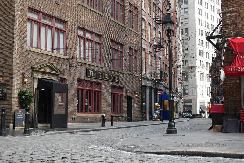 Etelä Manhattanin vanhaa katukuvaa