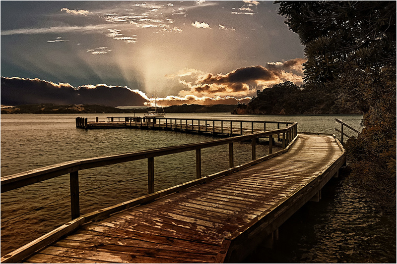 jetty at dusk-