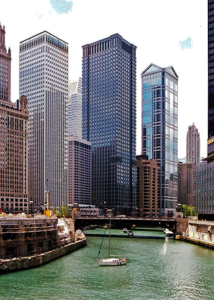 Chicago River West _pe by James Bickler