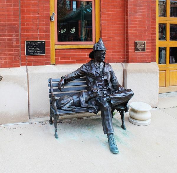 MIL12_ Fire Station Statue by James Bickler