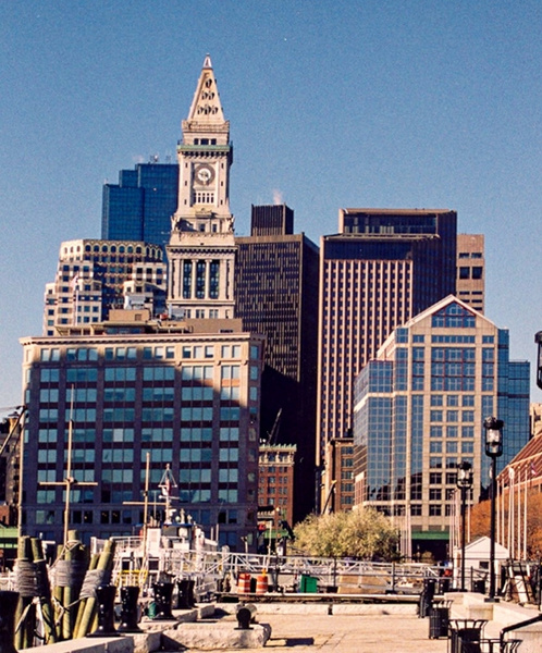 View from Boston Harbor 10.99_pe by James Bickler