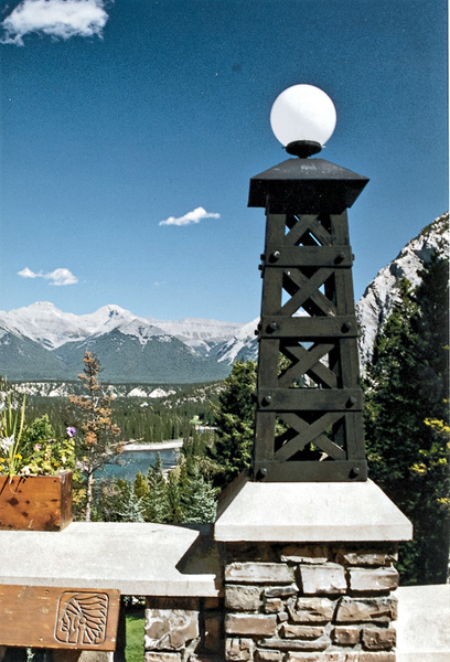 View_from_Banff_Springs_Hotel_pe by James Bickler