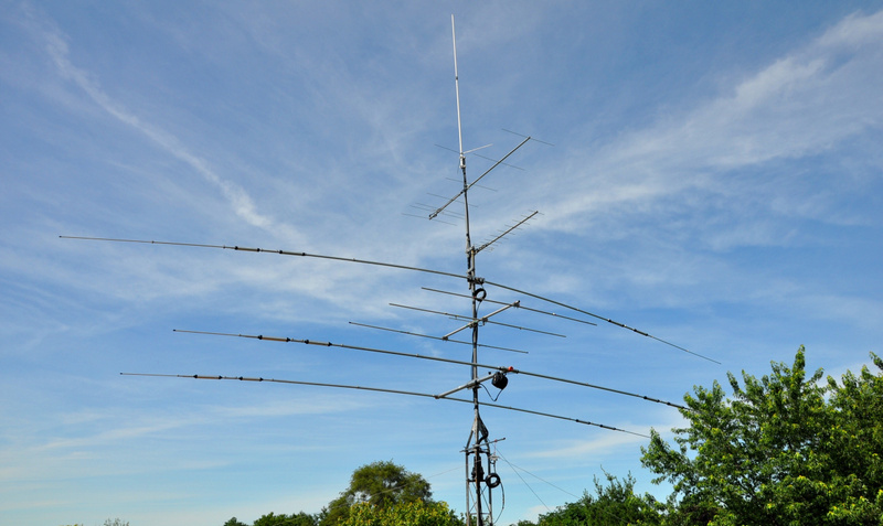 N9TF station antennas July 2014 with 6m added