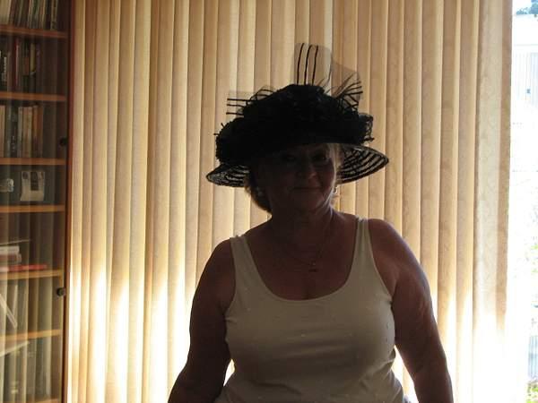 Olga in hat