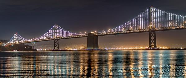 Bay Bridge Lights by JamesLim