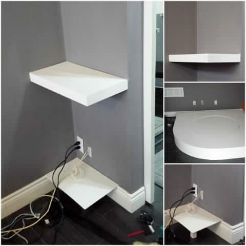 Floating Shelf Rotating Stage