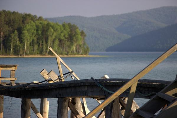Lake Baikal. Angara River (52.040222, 104.625722) by...