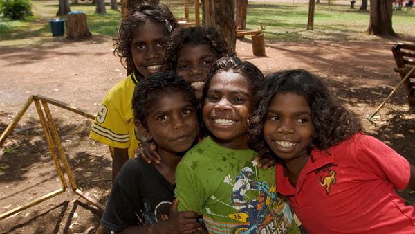 group-happy-aboriginal-girls by AndrewTaylor