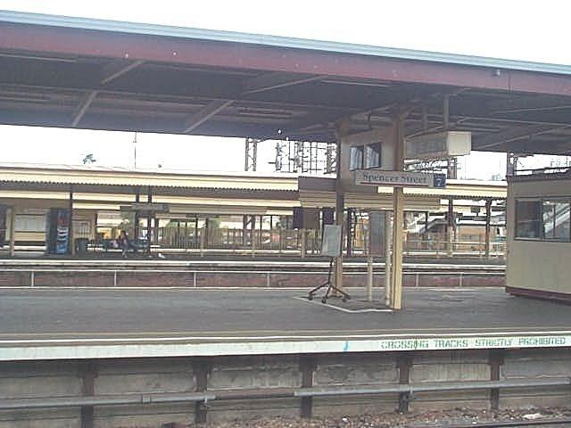 other platform at Spencer st