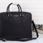 BURBERRY LEATHER AND HOUSE CHECK BRIEFCASE