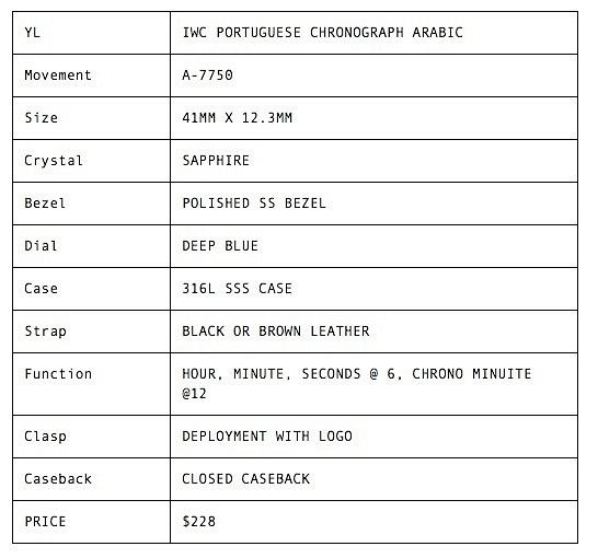 IWC PORTUGUESE CHRONOGRAPH ARABIC