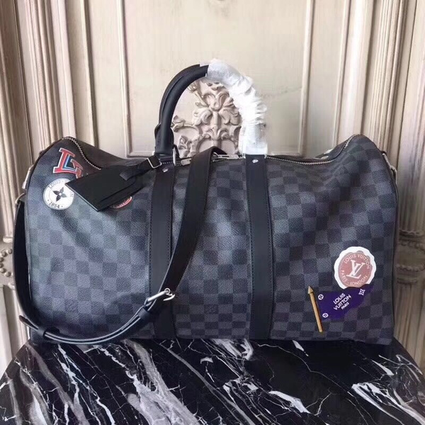 LV KEEPALL BANDOULIERE MONOGRAM ECLIPE LV LEAGUE