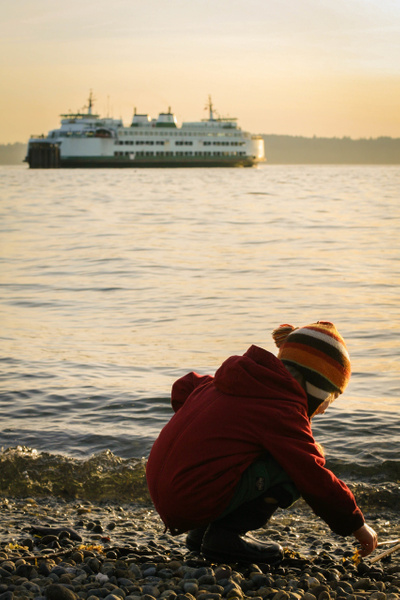 ferry boy by LeslieElliott