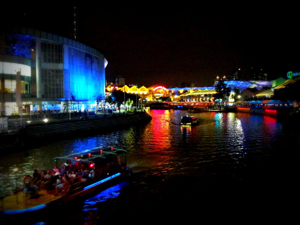 Clarke Quay at Night by Inspired