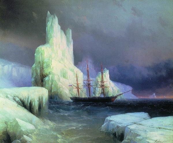 icebergs-in-the-atlantic-1870 by Regina3