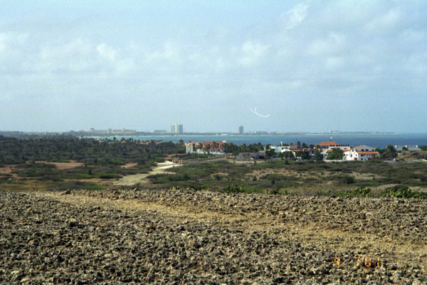 Oranjestad from acoss the bay by Vernon Adams