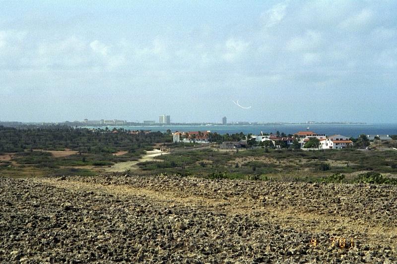Oranjestad from acoss the bay