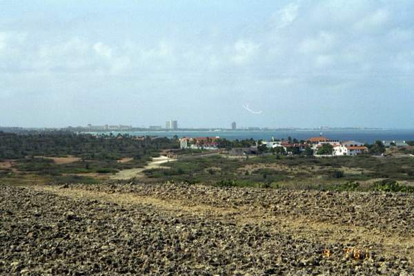 Oranjestad from acoss the bay