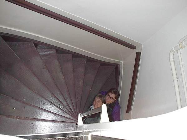 The stairway up to our apartment was very steep