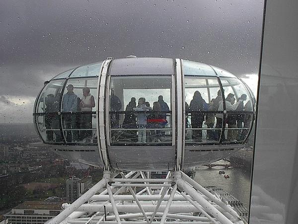 London Eye Car At Top by Vernon Adams