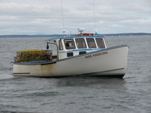 Lobster boat by Vernon Adams