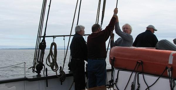 Raising the Sails by Vernon Adams