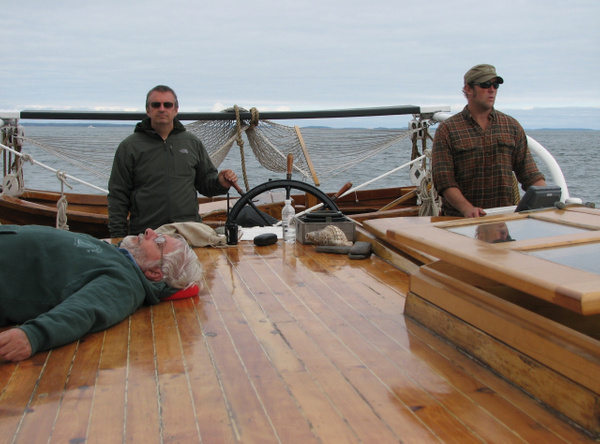 At the helm by Vernon Adams