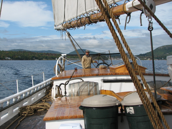 Sailing in Maine by Vernon Adams