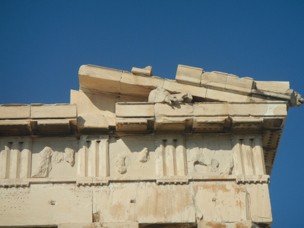 The Parthenon (detail) by Vernon Adams