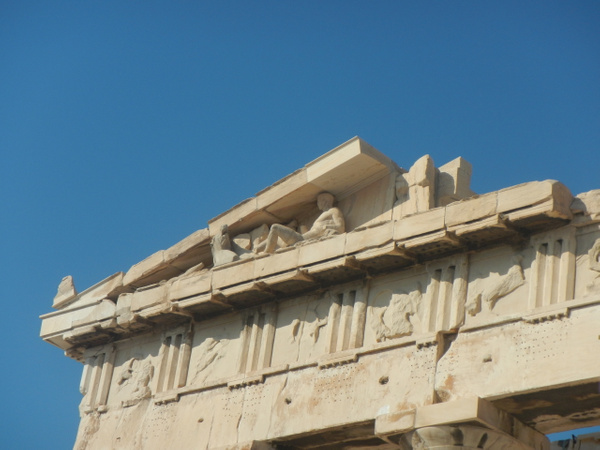 The Parthenon (detail) by Vernon Adams