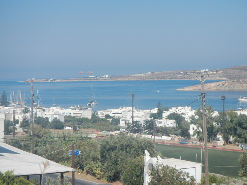 View from our hotel on Paros